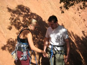 Phil and I rock climbing back in 2008
